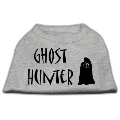 Mirage Pet Products 511303 XXXLGY Ghost Hunter Screen Print Shirt Grey with Black Lettering XXXL 20