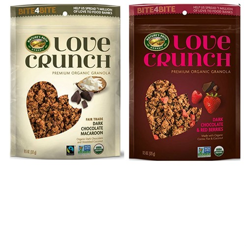 Love Crunch Premium Organic Granola Cereal Variety Pack from Natures Path Organic. Includes Fair Trade Dark Chocolate Macaroon and Dark Chocolate & Berries. Convenient one-Stop Shopping.