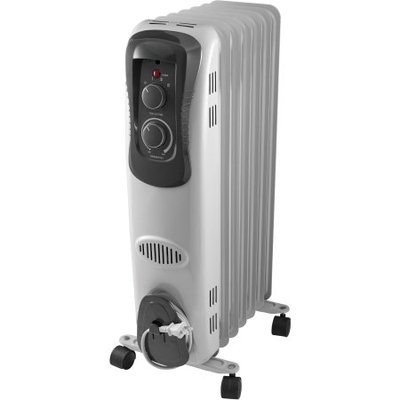 Mainstays Electric Oil Filled Portable Heater, White