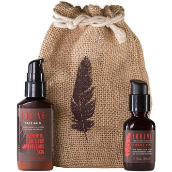 Thrive Shave & Restore Men's Grooming Kit - 2 Piece Grooming Gift Set with Shave Oil and After Shave Moisturizing Face Lotion; Gift for Men Made with Organic & Unique Premium Natural Ingredients