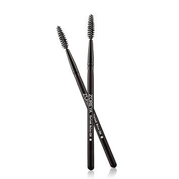HaloVa EyeLash Brush, Premium Eyebrow Lash Spoolie curler, Fashionable Durable Cosmetic Makeup Mascara Brushes, Black