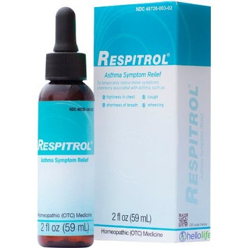 Respitrol Asthma Symptom Relief Medicine. All-Natural Homeopathic Medicine Quickly Relieves Asthma Symptoms Including Chest Tightness, Shortness of Breath and Wheezing. Therapeutic Support for Normal Airflow. 1 Bottle - Direct from Manufacturer.