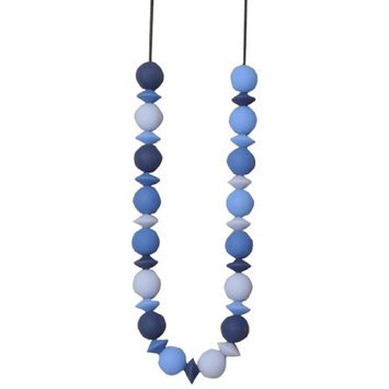Teethease Medley Teething Necklace (Multi - Blue/Coral/Grey)