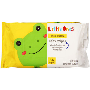 Little Ones L1 BABY WIPES SHEA .64C 64CT REFILL SOF