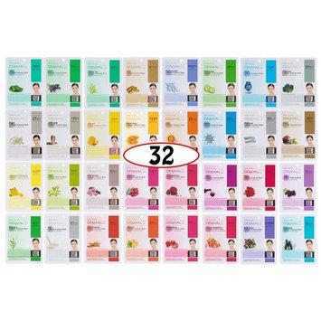 Dermal Korea Collagen Essence Full Face Facial Mask Sheets (2Pack COMBO (32 Color Pack), One Color)