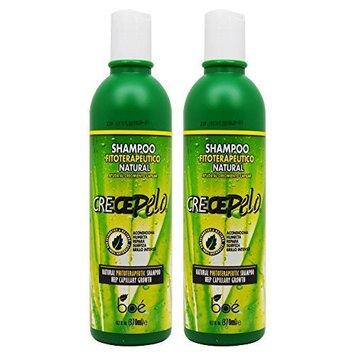 BOE Crece Pelo Shampoo Fitoterapeutico Natural (Natural Phitoterapeutic Shampoo) 13.2oz