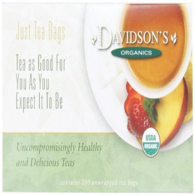 Davidson's Tea Davidson Organic Tea 171 Coconut Vanilla Tea Box of 100 Tea Bags
