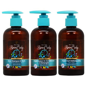 As I am Born Curly Argan Shampoo/Leave In Conditioner/Jelly 'Set' (Pack of 3)