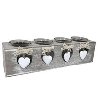 Creative Motion Industries, Inc. Creative Motion Industries Candles - with Four Hearts, Glass Jars and LED Candles