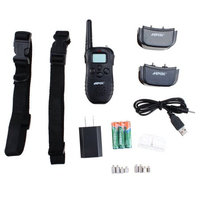 AGPtek Rechargeable Wireless Remote Control LCD 100Level Pet Dog Training Collar 300 Yard for 2 Dog