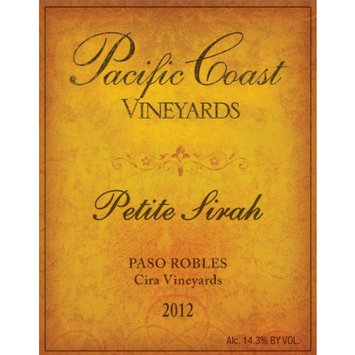 2012 Pacific Coast Vineyards Paso Robles Petite Sirah 750 mL