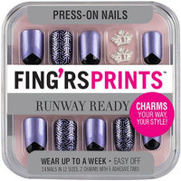 Pacific World Fing'rs Prints Runway Ready Press-On Nails, Mirror Mirror, 26 count