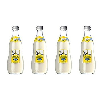 Lorina Sparkling Soda Water Fresh Lemon Flavor (11.1oz, 4-pack) Naturally Flavored Carbonated Soda Water, Artisan Crafted, Gluten-Free Beverage - No Artificial Colors or Flavors (On-the-go Size)