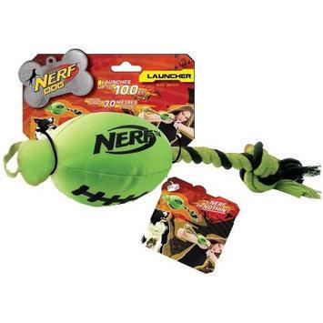 Little Gifts, Inc. Nerf Dog Football Fling Slinger Dog Toy Green