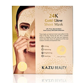 KAZU BEAUTY 24K Gold Glow Sheet Mask (5ct)