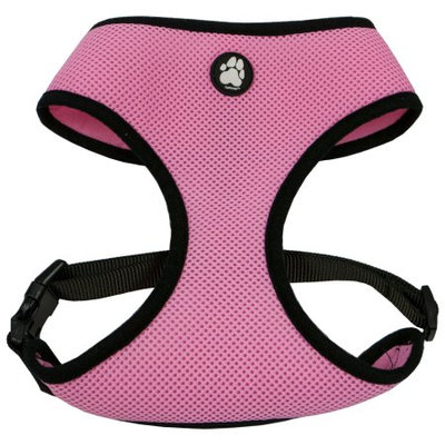 Furhaven Mesh Pet Harness - Large Pink