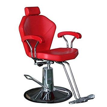 Funnylife Red Hydraulic Barber Chair Salon Hair Equipment