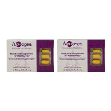 ApHogee Nutritional Supplement for Healthy Hair 30 Tablets Pack of 2