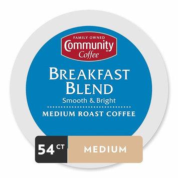 Community Coffee Breakfast Blend Single Serve Pods, Medium Roast, 54 Count [Breakfast Blend]