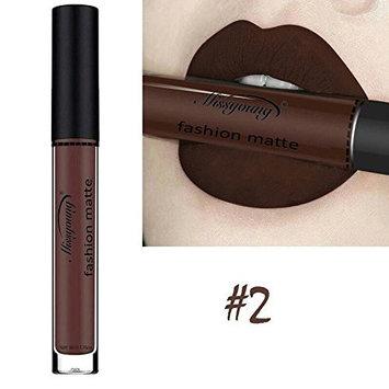 Wuudi Women Fashion Lip Gloss Liquid Lipstick Non Stick Cup Lasting Waterproof Matte Makeup