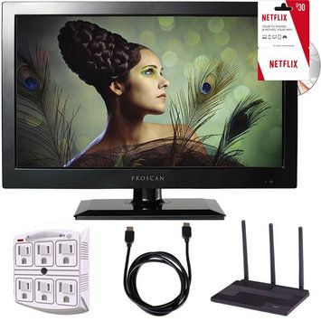 Proscan PLEDV1945A-B 19-Inch 720p 60Hz LED TV-DVD Combo Freedom From Cable Bundle