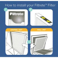 Filtrete Clean Living Dust Reduction HVAC Furnace Air Filter, 300 MPR, 12 X 20 x 1 inch, Pack of 4 Filters