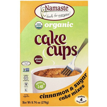 Namaste Foods Organic Cake Cup, Cinnamon & Sugar, 9.74 Ounce [Cinnamon & Sugar]