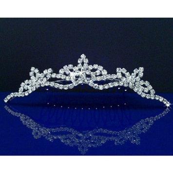 Bridal Wedding Tiara Comb With Three-Crystal Center 42774