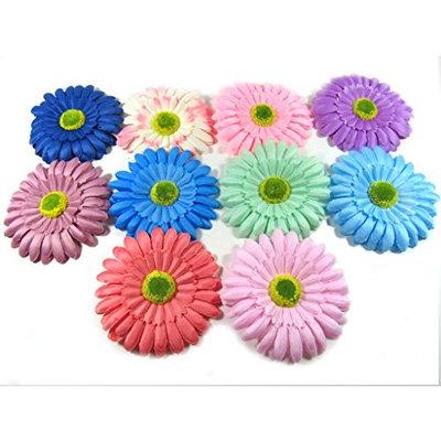 Oliasports Spring Bling Gerber Daisy Flower Hair Clips (10 Flowers)
