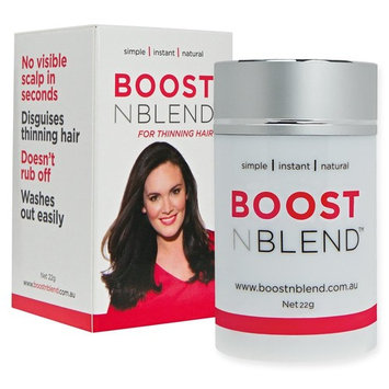 BOOSTnBLEND Medium Silver Grey Hair Loss Concealer with BONUS FREE HAIR TOWEL. Get Your Confidence Back. Completely Undetectable.
