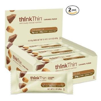 thinkThin Caramel Fudge (Pack of 10) , 2 Pack