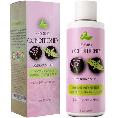 Natural Conditioner for Dry Hair with Invigorating Mint & Soothing Lavender Essential Oils for Hair & Scalp – Sulfate Free Treatment for Dry Hair and Flaky Scalp - Safe for Color...