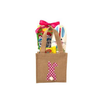 Gifts2gonow Burlap Bunny Easter Basket Pink