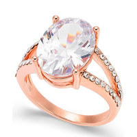 Rose Gold-Tone Crystal Oval Ring, Created for Macy's