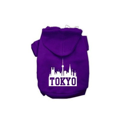 Mirage Pet Products Tokyo Skyline Screen Print Pet Hoodies Purple Size Lg (14)