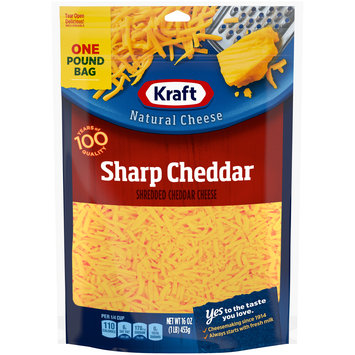 Kraft Shredded Sharp Cheddar Natural Cheese