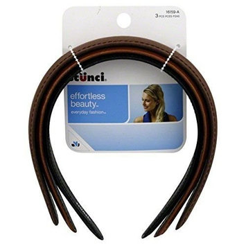 Ln Scunci Headbands Leather 3 Pk