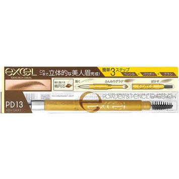 Japan Beauty - Excel Powder & Pencil Eyebrow EX PD13 ash gray *AF27*