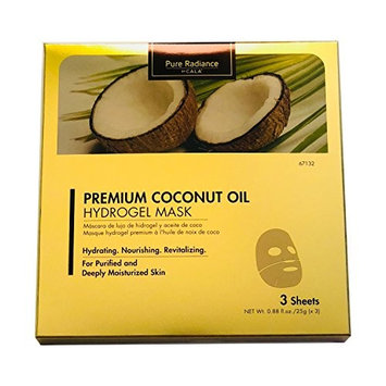 CALA Pure Radiance PREMIUM COCONUT HYDROGEL MASK- Lighting Firming Glowing 3 sheet/pack