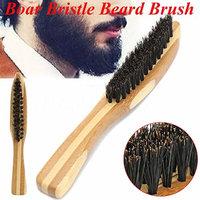 Hot Male Men Boar Bristle Beard Brush Mustache Shaving Brush Facial Hair Brush
