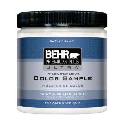 BEHR Premium Plus Ultra 8 oz. #220 UPW Interior/Exterior Paint Sample