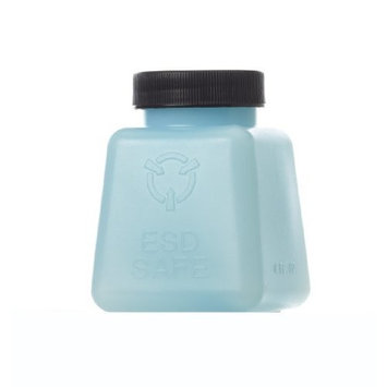 Case fo 50-4oz. R&R Lotion Polyethylene Square Antistatic ESD Safe Storage Bottle with Lid