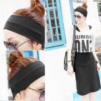 Women Wide Sports Yoga Stretch Elastic Solid Hair Band Headband DEAML