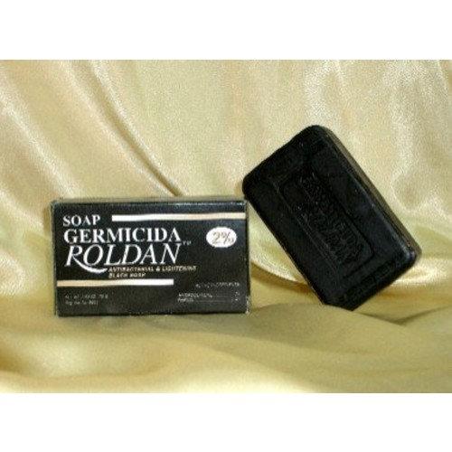 Soap Germicida Roldan Antibacterial Lightening Black Soap -2.63 Oz