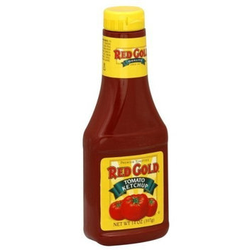 Red Gold Tomato Ketchup Squeeze Bottle 14 Ounces (Pack of 3)