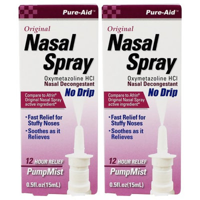 Pure-Aid Original Nasal Spray-0.5oz (2 Pack)
