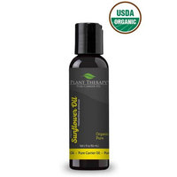 Plant Therapy Essential Oils Sunflower Organic Carrier Oil 2 oz For Aromatherapy or Essential Oil Massage
