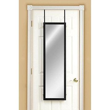 Mirrotek 3VU1448BK Triple View Professional Over The Door Dressing Mirror with 4 Mirrors, Black
