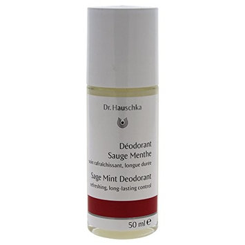 Dr. Hauschka Sage Mint Deodorant Roll-On for Women, 1.7 Ounce