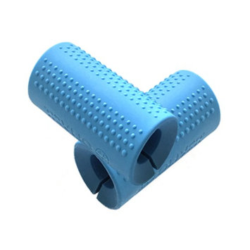 Fitness Maniac Thick Bar Grips Sold in Pair Ergonomic Design & Durable Rubber Compound Material for Dumbbell & Barbell bars